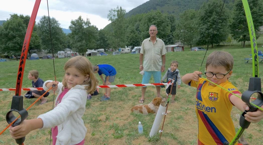 camping pyrenees activites enfants tir à l'arc